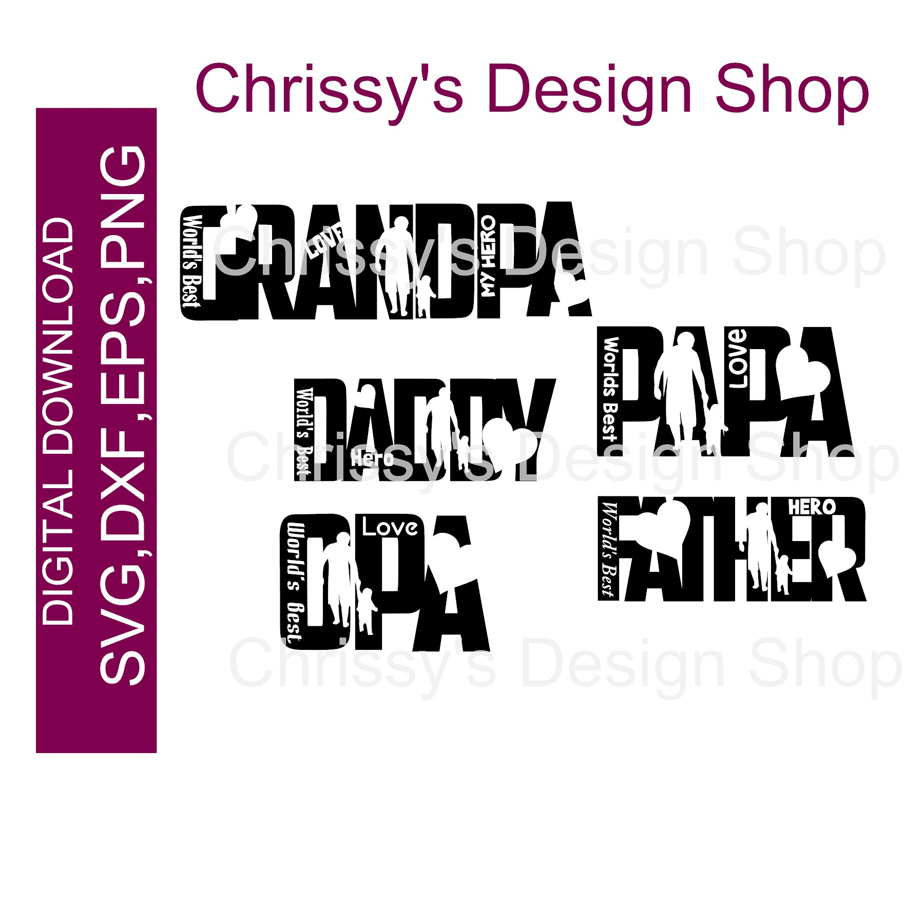 Father S Day Svg Bundle Dxf Png Chrissy S Design Shop