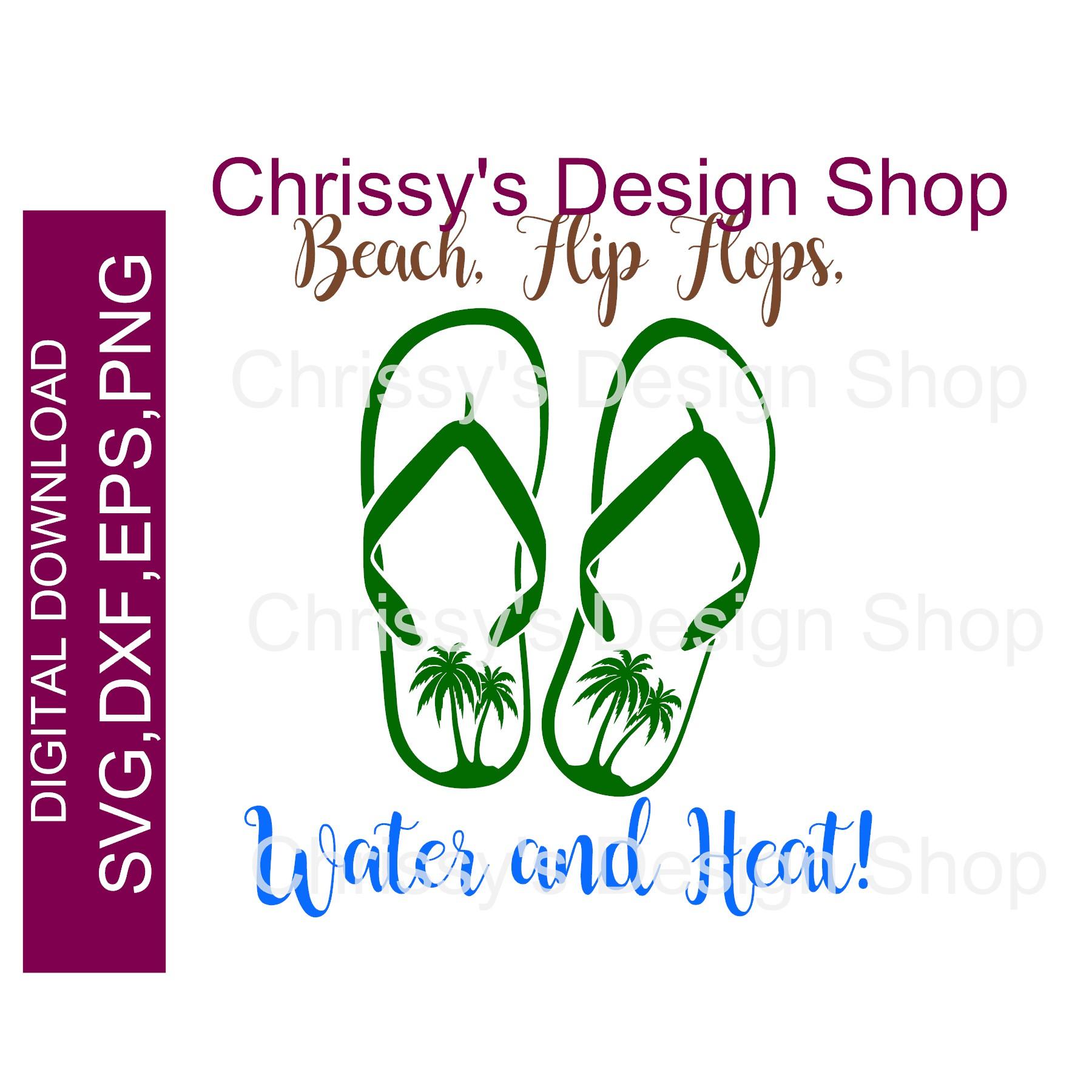 91e7a96a0 Flip flop summer SVG DXF EPS – Chrissy s Design Shop
